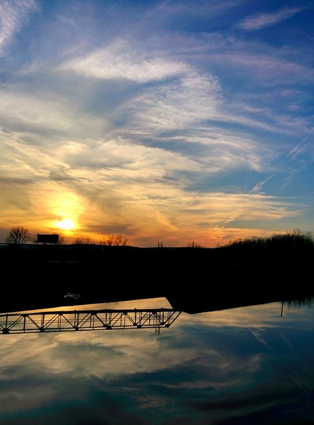 Sunset Over Dunmore Reservoir #1