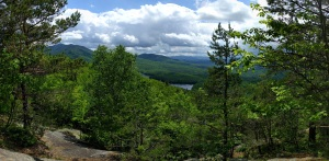 Lake Saranac from atop Baker Mountain